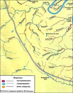 Подземные реки Москвы карта
